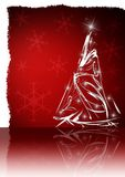 Elegant christmas card. On red background Royalty Free Stock Photos