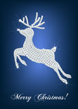 Elegant christmas card. With diamond deer Stock Photos