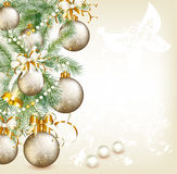 Elegant Christmas card royalty free illustration