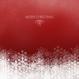 Elegant Christmas card. With snowflakes on a red background Royalty Free Stock Photography