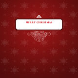 Elegant Christmas card royalty free stock image