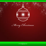 Elegant Christmas card background. With snowflakes on a red background Royalty Free Stock Image