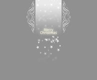Elegant Christmas card background. Christmas card background with snowflakes on a light grey background Royalty Free Stock Image