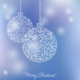 Elegant christmas card. With Christmas-ball and  flame Royalty Free Stock Image