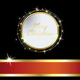 Elegant Christmas card with Golden  ball and tinsel eps10. Elegant Christmas card with Golden Christmas ball and tinsel Stock Image