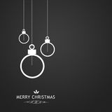 Elegant Christmas card on a grey background. Elegant Christmas card symbolic elements on a grey background Stock Photo