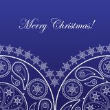 Elegant christmas card. With pattern and snowflakes Royalty Free Stock Photo