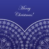 Elegant christmas card. With pattern and snowflakes Stock Images