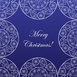Elegant Christmas card. With pattern and snowflakes Stock Image
