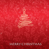Elegant Christmas card with a symbolic tree royalty free stock photo