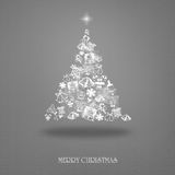 Elegant Christmas card with a symbolic tree. On a vintage background Royalty Free Stock Photos