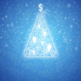 Elegant Christmas card with a symbolic tree Stock Photography