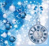 Elegant Christmas clock Stock Image