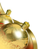 Elegant christmas decor baubles. Royalty Free Stock Photos
