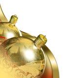 Elegant christmas decor baubles. Royalty Free Stock Photos