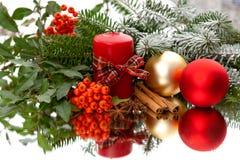 Elegant christmas decoration on mirror Stock Images