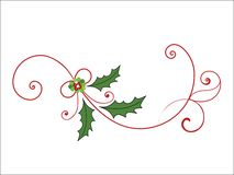 Elegant christmas flourish Stock Photos