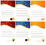 Elegant christmas frames Royalty Free Stock Photos