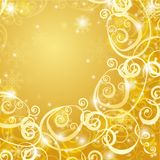 Elegant christmas gold background Royalty Free Stock Photos
