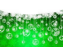Elegant Christmas green with snowflakes. EPS 8 Royalty Free Stock Photography