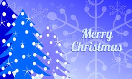 Elegant Christmas greeting card in blue Stock Image
