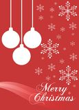 Elegant Christmas greeting card in red Royalty Free Stock Photography