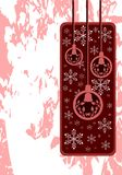 Elegant Christmas greeting card in red Stock Photo