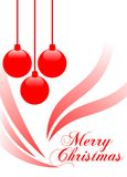 Elegant Christmas greeting card in white Royalty Free Stock Photo