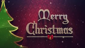 Elegant Christmas New Year Greeting Card stock video footage
