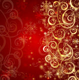 Elegant christmas red background Stock Images