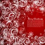 Elegant christmas red background Stock Image