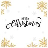 Elegant Christmas Sale background with shining gold glittering stars background, in vector Stock Images