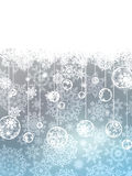 Elegant christmas with snowflakes. EPS 8 Stock Photography