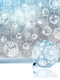 Elegant christmas with snowflakes. EPS 8 Stock Images
