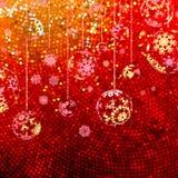Elegant Christmas with snowflakes. EPS 10 Stock Photo