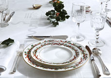 Elegant christmas table Royalty Free Stock Photo