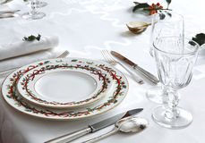 Elegant christmas table Royalty Free Stock Image