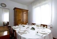 Elegant christmas table. Festive table setting for christmas Stock Image