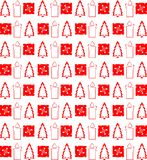 Elegant Christmas texture in red Stock Photos