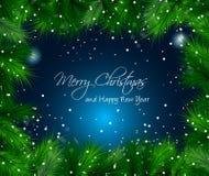 Elegant Christmas Themed with snow. Elegant Christmas Themed frame with a lot of falling snow balls stock illustration