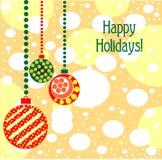 Elegant Christmas toys. Beautiful balls with ornament Stock Image