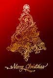 Elegant christmas tree. Illustration of elegant christmas tree Royalty Free Stock Image
