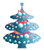 Elegant Christmas tree Stock Photo