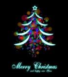 Elegant Christmas Tree Background Royalty Free Stock Photos