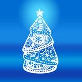 Elegant Christmas tree Stock Photography