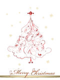 Elegant Christmas tree with curls. Christmas background with elegant Christmas tree with curls Stock Photography