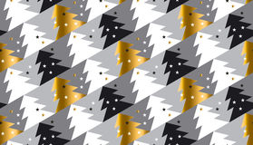 Elegant Christmas tree seamless geometry pattern Stock Photo