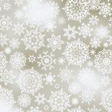 Elegant Christmas with white snowflakes. EPS 8 Stock Photo