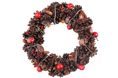 Elegant christmas wreath. Isolated stock image. Stock Images