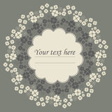 Elegant circle frame with Clover leaves for St. Patrick's day Royalty Free Stock Photography